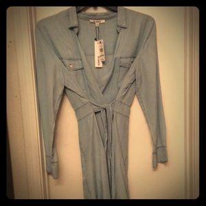 Jean wrap dress